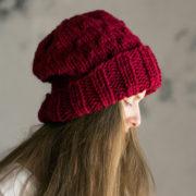 SERENITY : Women's Slouchy Hat Knitting Pattern