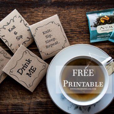 FREE Printable Tea Wrapper