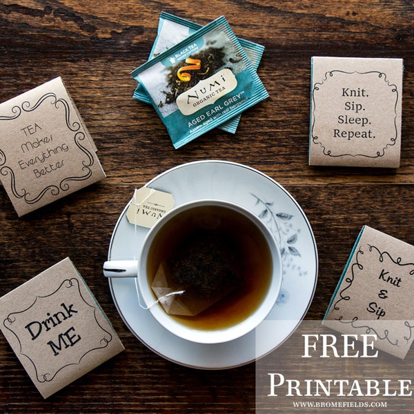 FREE Printable Tea Tag