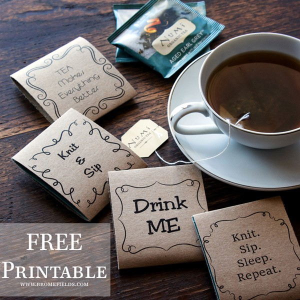 FREE Printable Tea Gift Tag