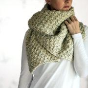 THANKFULNESS - Women's Blanket Scarf Knitting Pattern