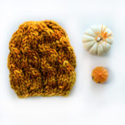 Baby Pumpkin Cable Hat Knitting Pattern