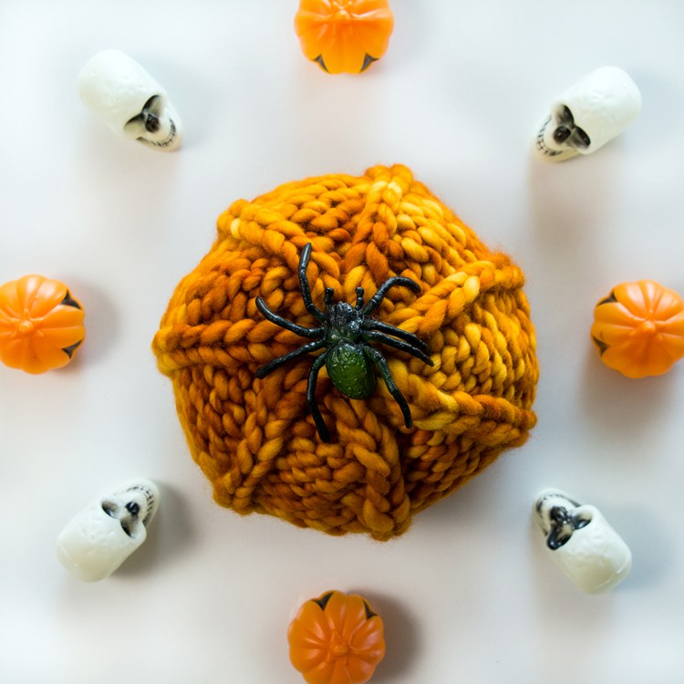 FREE Mini-Pumpkin Knitting Pattern by Brome Fields
