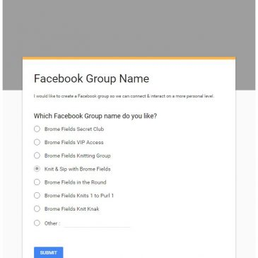 Help me Choose a Facebook Group Name