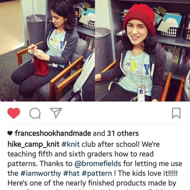 How exciting! Erin @hike_camp_knit is teaching 5th & 6th …
