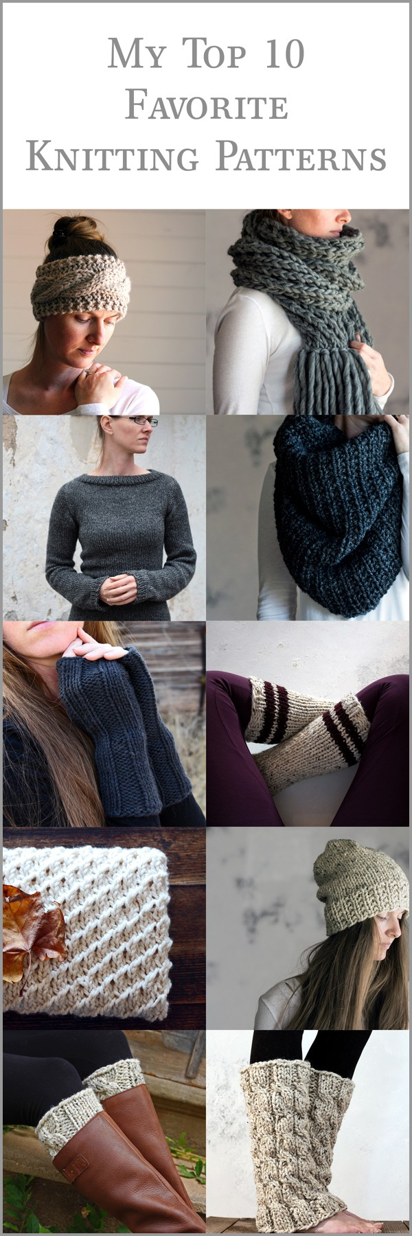 Top 10 Favorite Knitting Patterns by Brome Fields