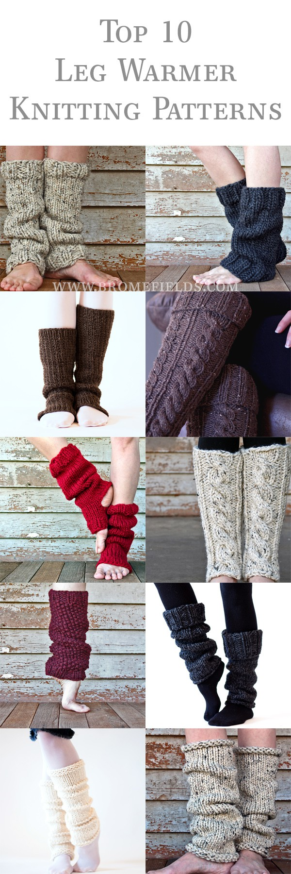 Top 10 Leg Warmer Knitting Patterns - Brome Fields