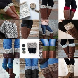 Instantly Download 36 Boot Cuff Knitting Patterns