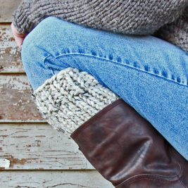 Relaxing Boot Cuff Knitting Pattern by Brome Fields