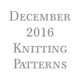 December Knitting Patterns
