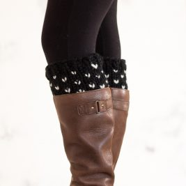 Fair Isle Boot Cuff Knitting Pattern