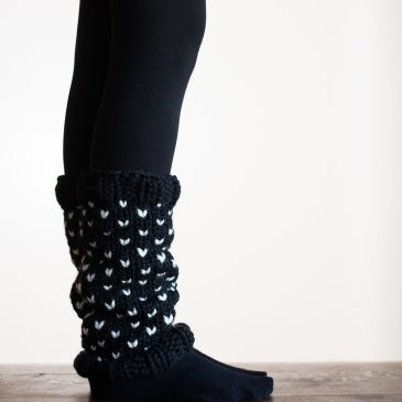 TOO CUTE! Fair Isle Leg Warmer Knitting Pattern