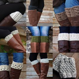 Top 10 Boot Cuff Knitting Patterns by Brome Fields