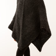 I love this knitted poncho!