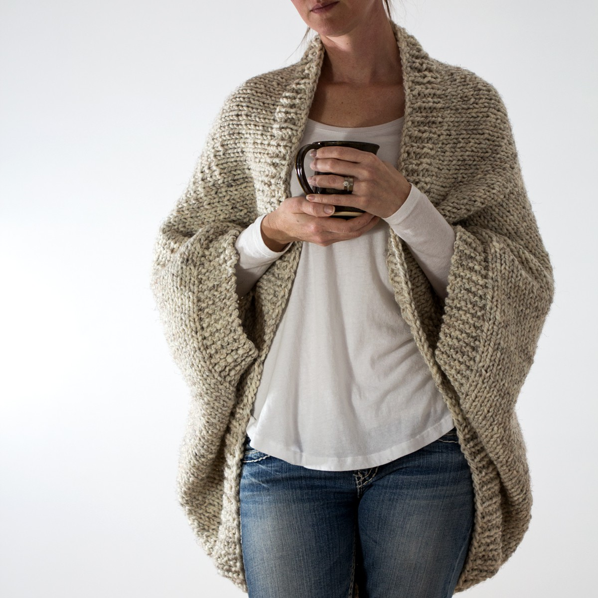 DECISIVENESS: Oversized Scoop Sweater Knitting Pattern - Brome Fields