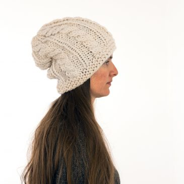 Slouchy Cable Hat Knitting Pattern