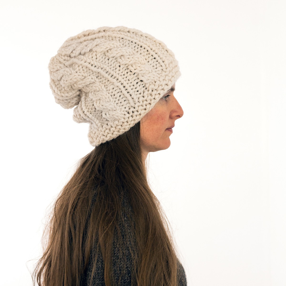 OPTIMISTIC : Women\'s Slouchy Hat Knitting Pattern - Brome Fields