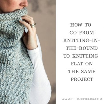 VIDEO: How to Go From Knitting-in-the-Round to Knit Flat