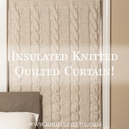 #211 : New Knitting Pattern : Cleverness Curtain