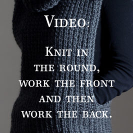 Video: Knitting in the Round and Saving Stitches to a Scrap Piece of Yarn