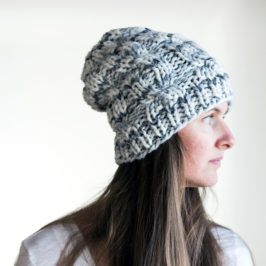 #209 Cable Hat Knitting Pattern : TEMPERANCE