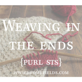 Video : How to Weave in Ends when Knitting