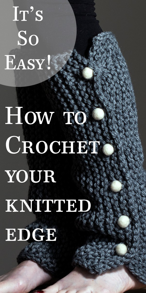 How to crochet your knitted edge