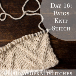 Day 16 : Twigs Knit Stitch : #100daysofknitstitches