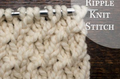 Day 15 : Ripple Knit Stitch : #100daysofknitstitches