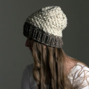 Simple knit slouchy hat!