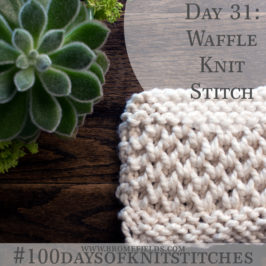 Day 31 : Waffle, Honeycomb, Brioche Knit Stitch : #100daysofknitstitches