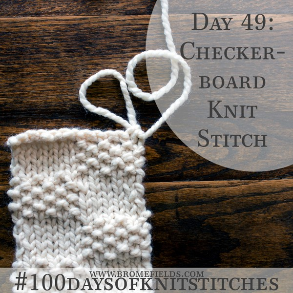 Checkerboard Knit Stitch Swatch