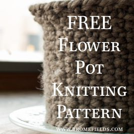 Free Knitting Pattern - Flower Pot Cozy