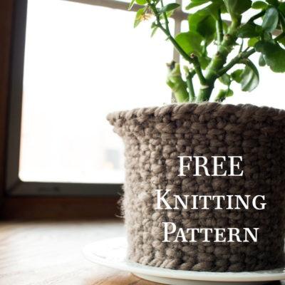 Free woven knitting pattern