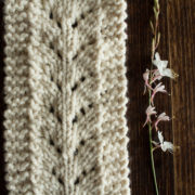 Caring Chunky Lace Scarf Knitting Pattern
