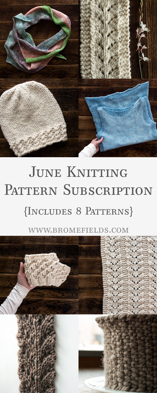June Knitting Pattern eBook