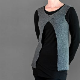 Beginners level, super simple knit vest!