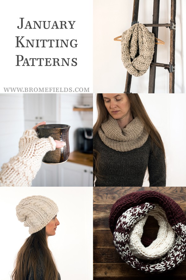 January Knitting Pattern Subscription by Brome Fields