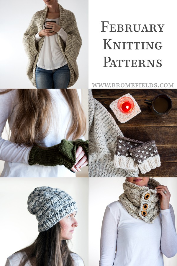 February Monthly Knitting Pattern Subscription