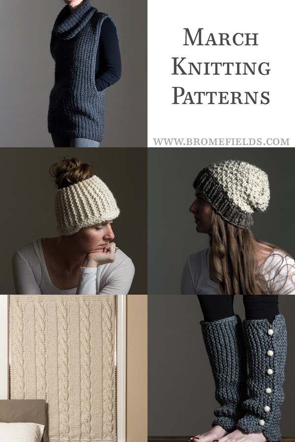March Knitting Pattern Subscription by Brome Fields