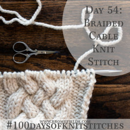 Day 54 : Braided Cable Knit Stitch : #100daysofknitstitches