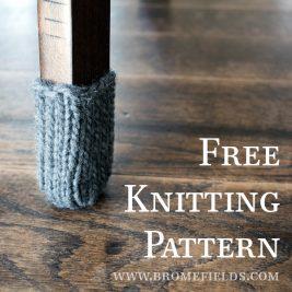 FREE Knitting Pattern : Chair Leg Warmers