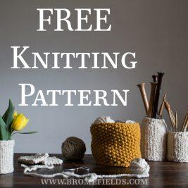 FREE Knitting Pattern : Imagination Basket