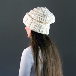 Spiral hat knitting pattern