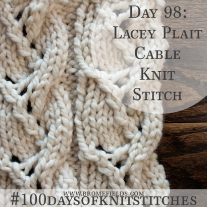 Knitting Cable Stitch Dictionary : Brome Fields   Quick & Easy Knitting Patterns