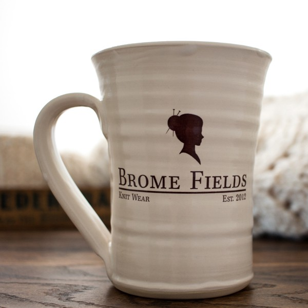 Brome Fields logo hand thrown mug.