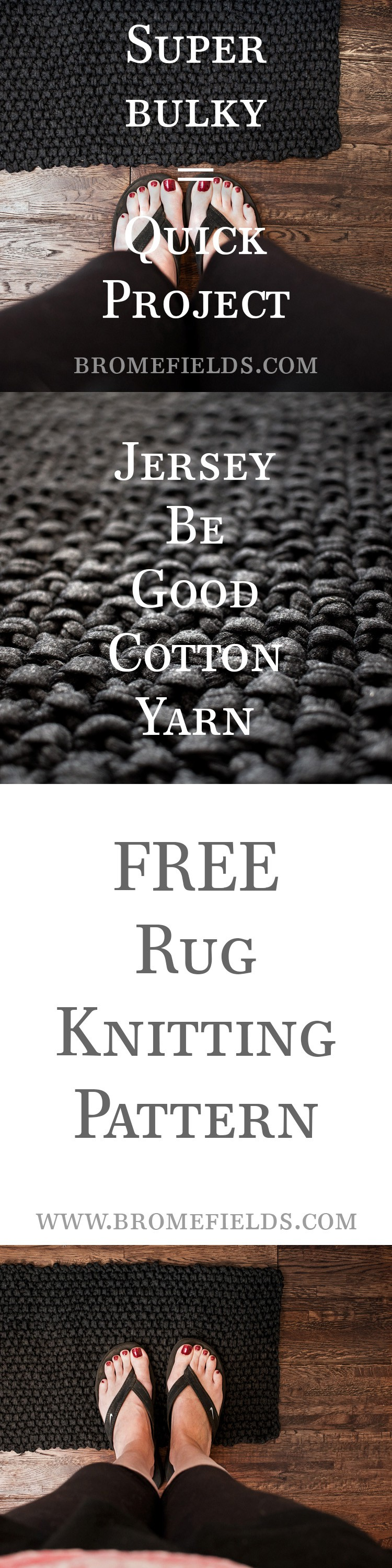 FREE Rug Knitting Pattern IDEALISM by Brome Fields