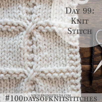 Day 99 : Knit Stitch : #100daysofknitstitches