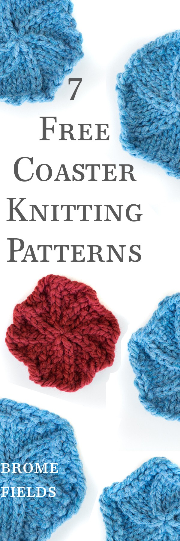 7 FREE Circle Coaster Knitting Patterns by Brome Fields