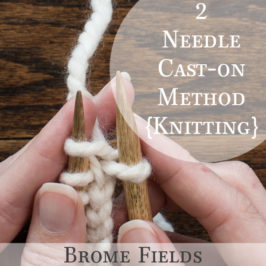 2 Needle Cast-on Method {Knitting Cast-on}